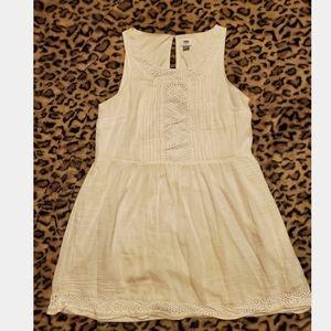 Ivort color summer dress